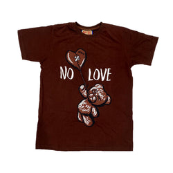 Retro Label No Love Shirt (Retro 1 Dark Mocha)