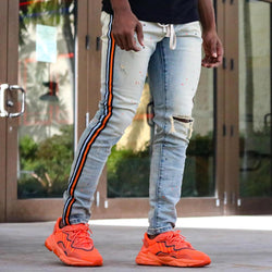 THRT Macro Blue Denim (Orange Stripe)
