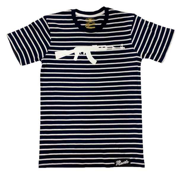 Hustle Daily Ak Stripe Shirt (Navy/White)