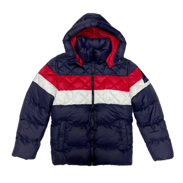 Point Zero Bubble Jacket (Navy/Red)