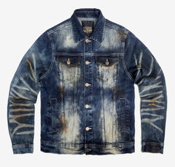 Copper Rivet Denim Jacket (Tan Wash)