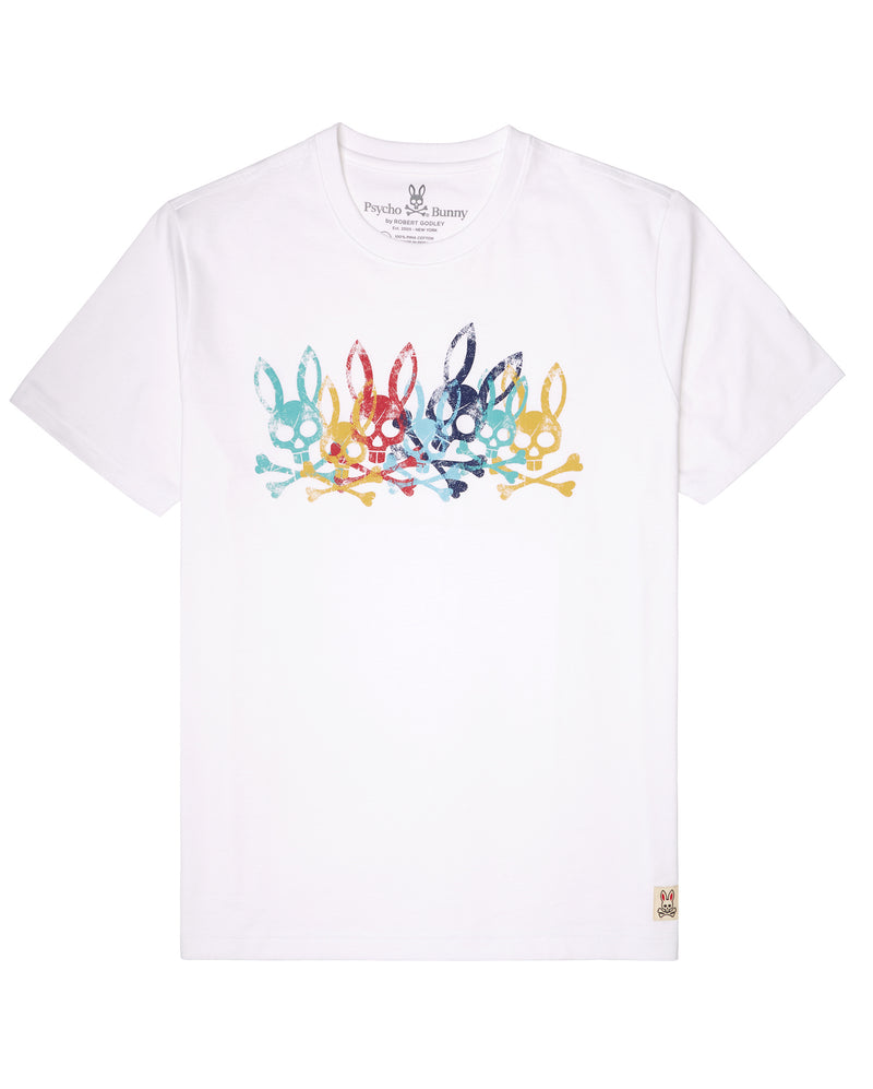 Psycho Bunny mens graphic tee (White)