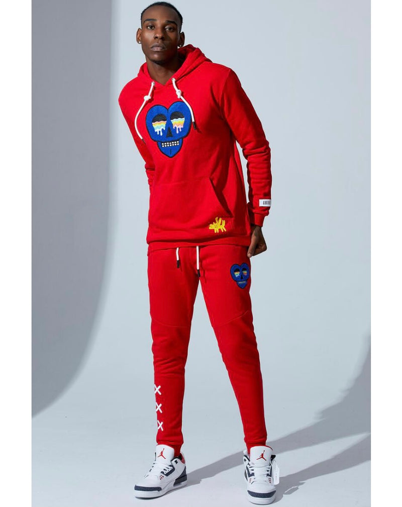 Fifth Loop Wild and Free Jogging Suit (Red)