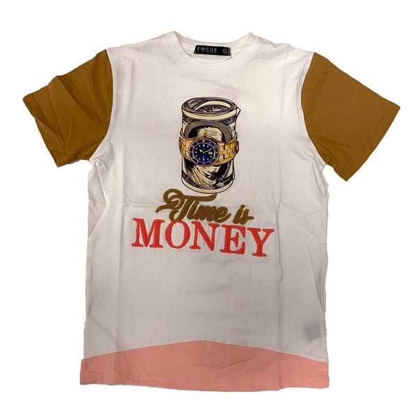 Focus Time Is Money Tshirt (White)