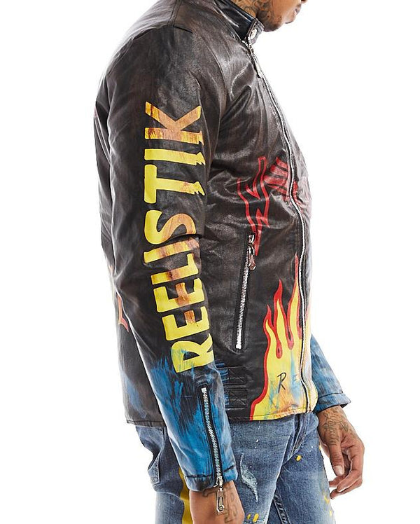 Reelistik Flames Jacket (Blue/Yellow/Black)