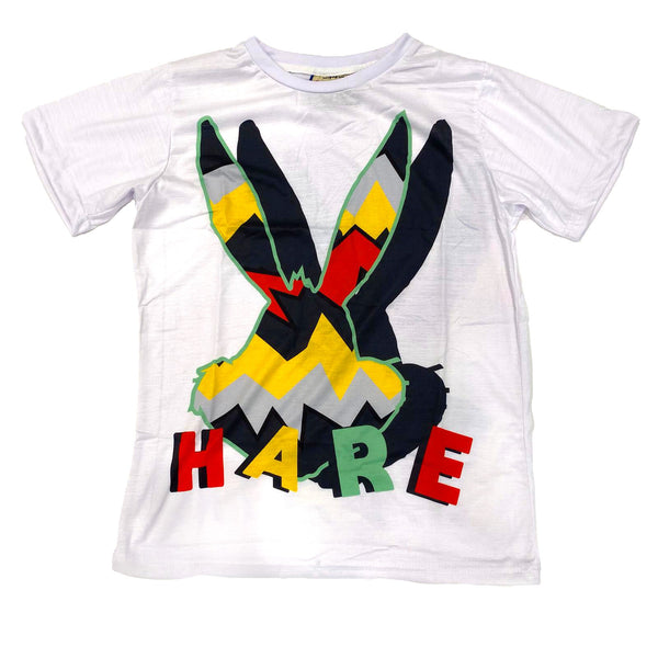 Retro Label Hare Face Tshirt (White Hare)