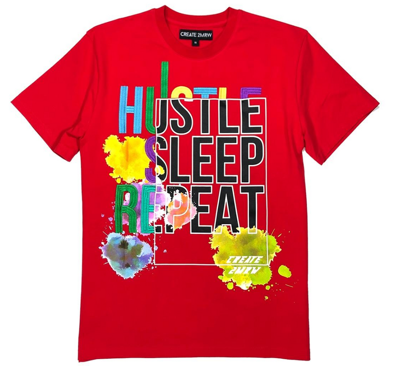 Create 2MRW Hustle Sleep Shirt (Red)