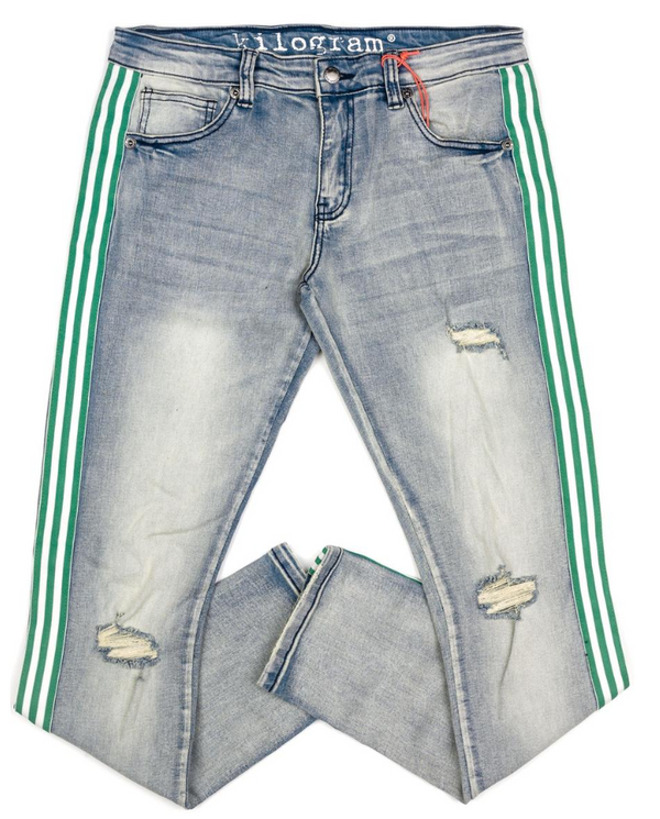 Kilogram Egg Blue Denim (Green/White Stripe)
