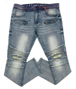 Kilogram Twill Waistband Denim (Blue)