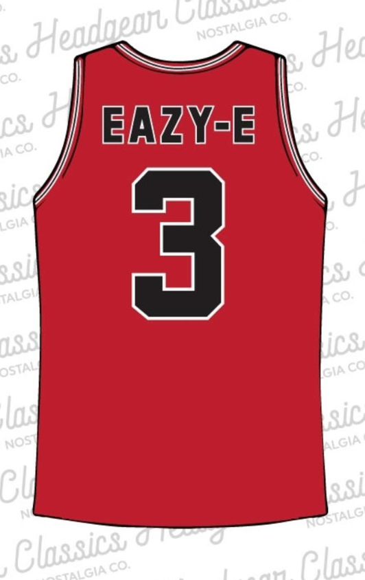 Headgear Eazy E Straight Outta Compton Basketball Jersey (Red)