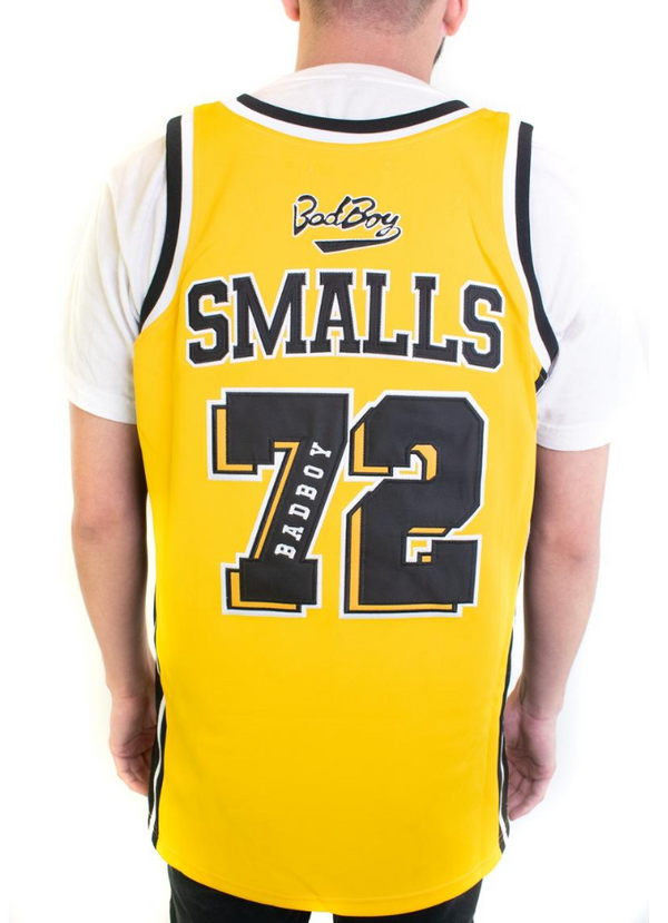 Headgear Yellow Biggie Smalls Alternate Basketball Jersey (Yellow)