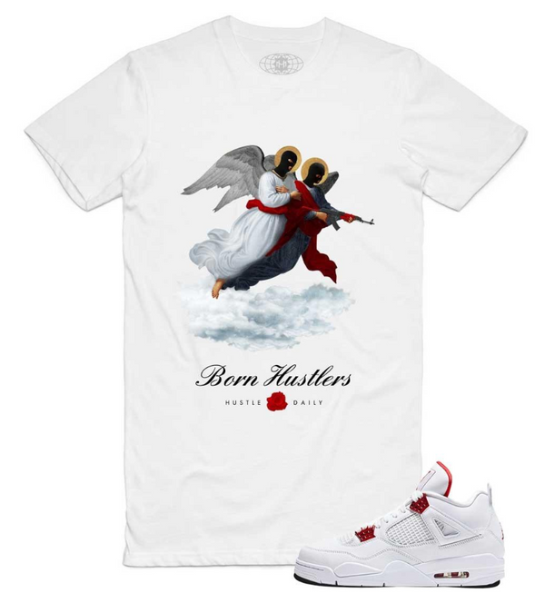 Hustle Daily Two Angels Shirt (White)