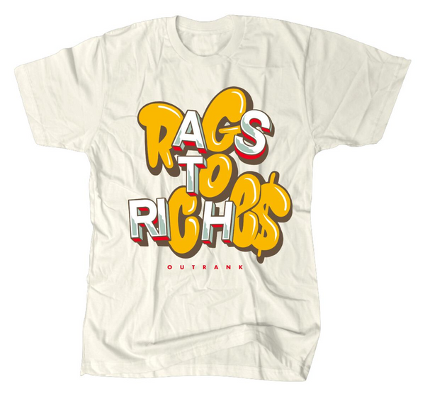 Outrnk Rags To Riches Tee (Ivory)