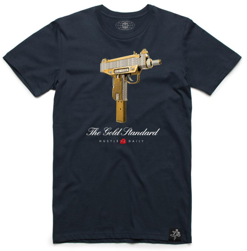 Hustle Daily The Gold Standard Shirt (Navy)
