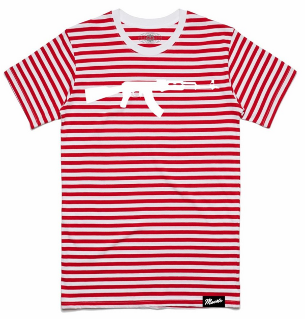 Hustle Daily Ak Stripe Shirt (Red/White)