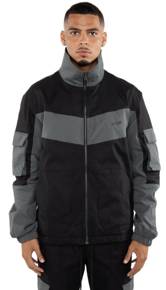 EPTM Color Block Twill Jacket (Black)