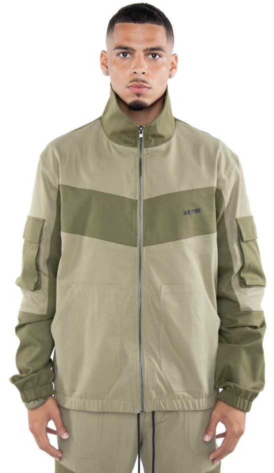 EPTM Color Block Twill Jacket (Olive)