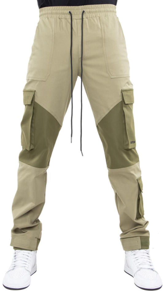 EPTM Color Block Twill Pants (Olive)