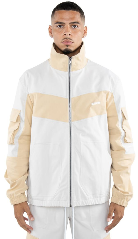 EPTM Color Block Twill Jacket (Khaki)