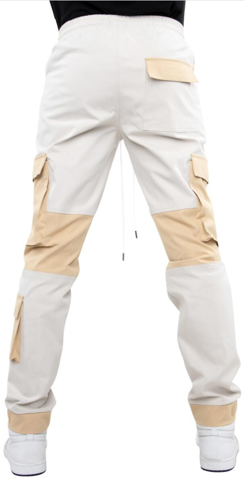 EPTM Color Block Twill Pants (Khaki)