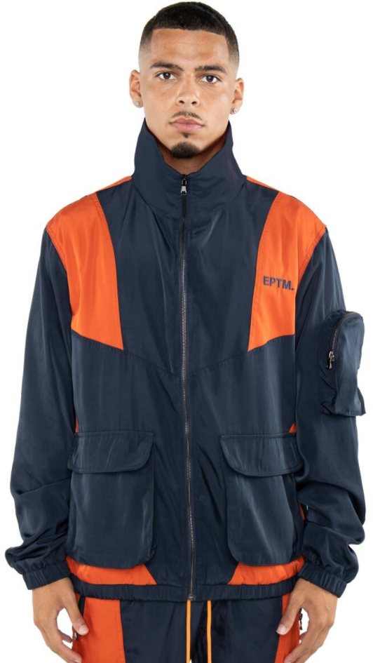 EPTM Color Block Twill Jacket (Navy)