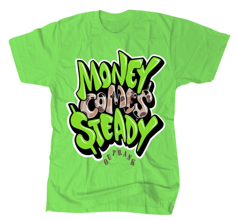 Outrnk Money Comes Steady Tee (Lime)
