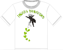 Focus Heart Breaker Tshirt (White/Green)