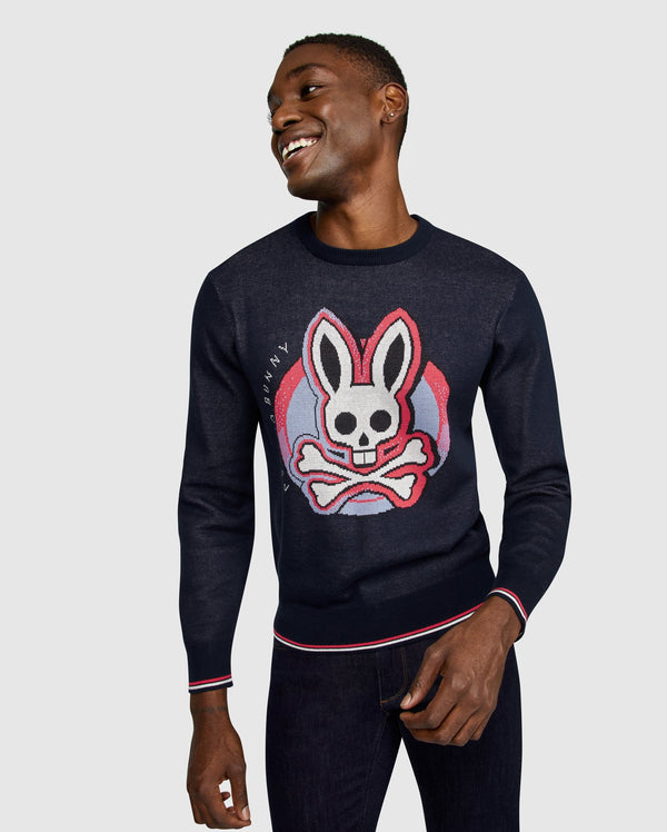 Psycho Bunny Men's Norbury Sweater (Navy)