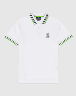 Psycho Bunny Mens Woburn Sports Polo (White)