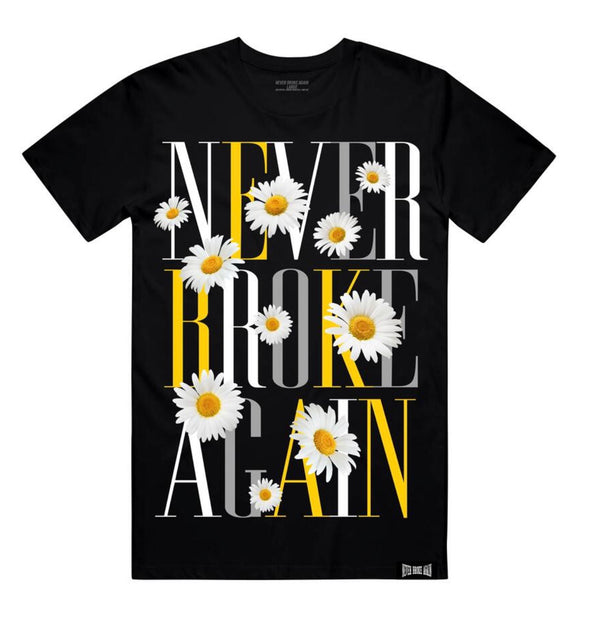 Never Broke Again Sunflower Tshirt (Black)