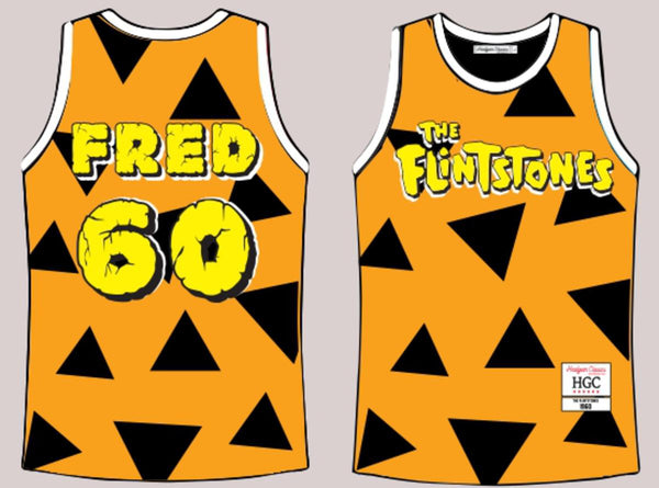 Headgear Fred Flintstones Basketball Jersey (Yellow)