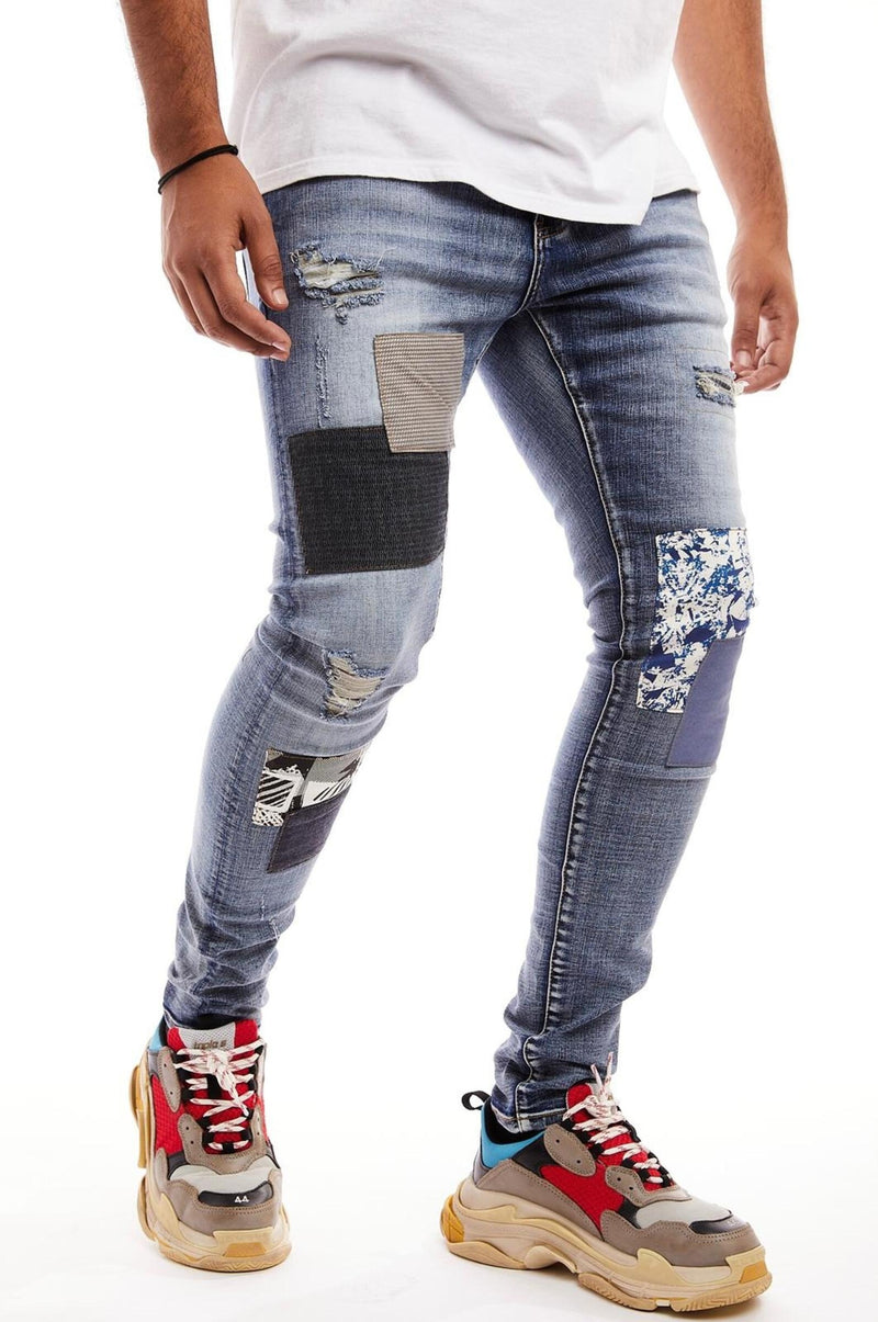 Damati Da Vinci Patchwork Denim (Blue)