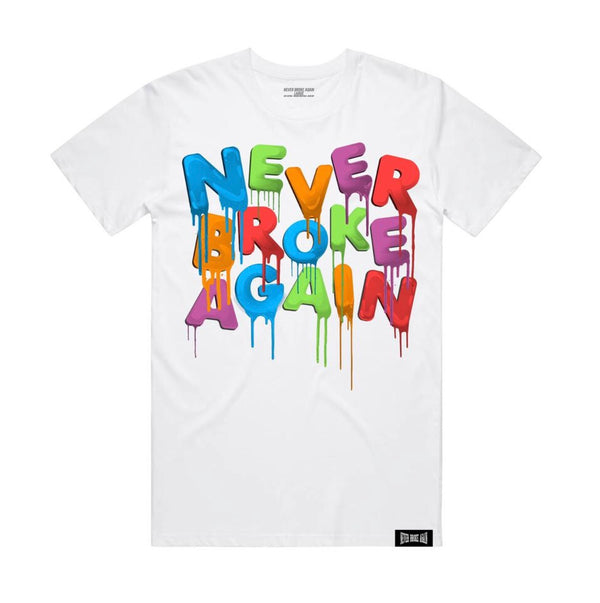 Never Broke Again Drip Tshirt (White)