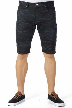 Xray Denim Camo Shorts (Blue)