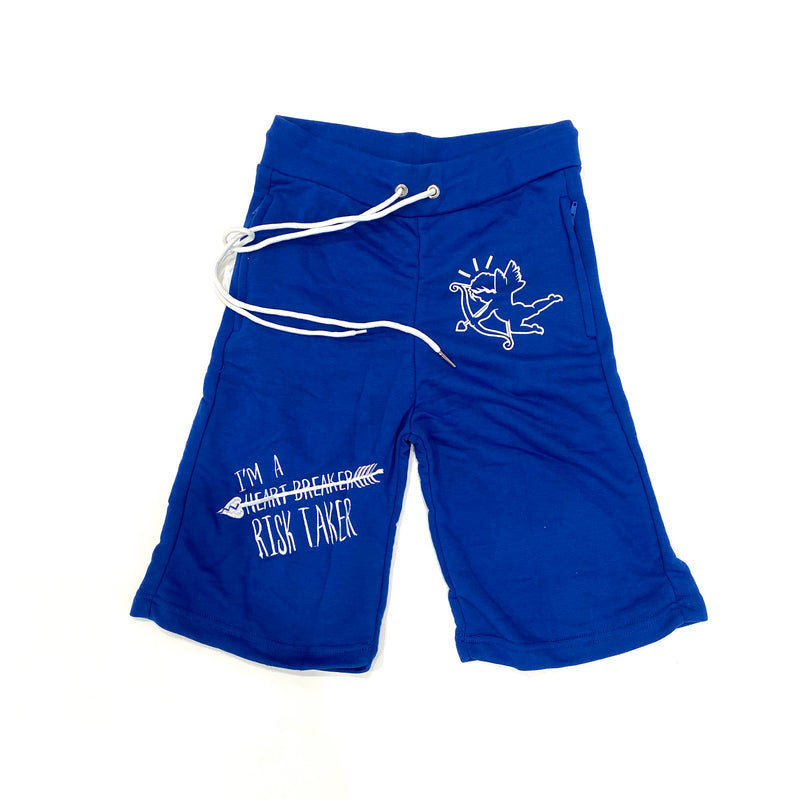 Retro Label Heart Breaker Shorts (Royal Toe)