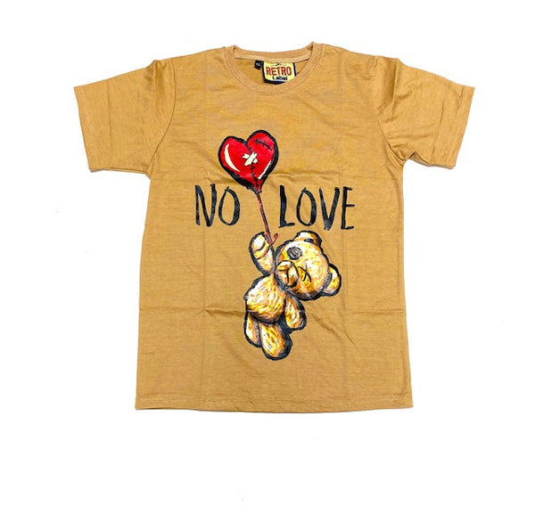 Retro Label no love tee (timber/Brown)