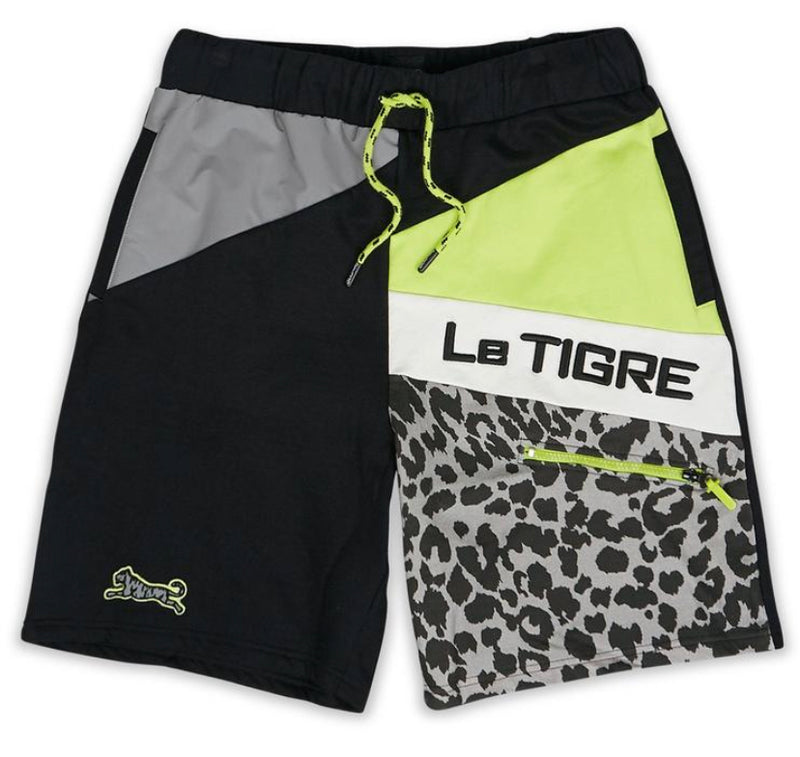 Le Tigre Reflective Shorts (Black/Grey/Green)