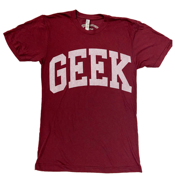 Fashion Geeks Geek Logo Shirt (Burgundy)