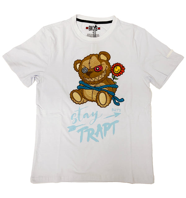 Black Keys Stay Trap Tee (White)