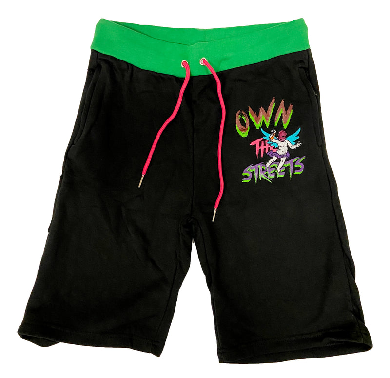 Retro Label Own the Streets Shorts (Multi)