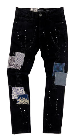 Waimea Paint Splatter Jeans (Multi Patches)