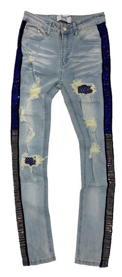 Dna Rhinestones Denim (Blue/Clear)