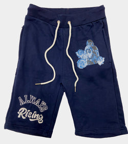 Retro Label Always Rising Shorts (Retro 12 Legends Indigo)