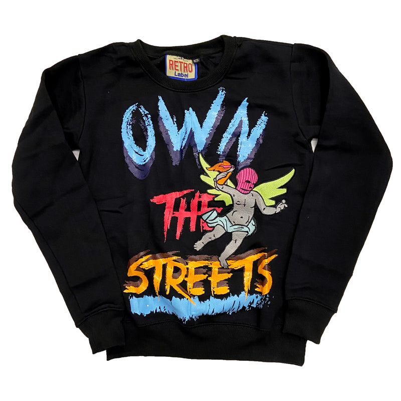 Retro Label Own the Streets Crewneck (Retro 1 Bio Hack)