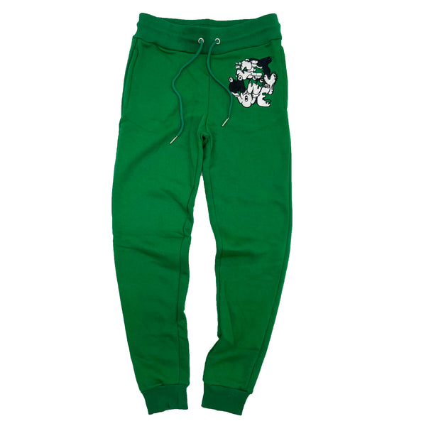 Retro Label Get Money Joggers (Retro 13 Lucky Green)