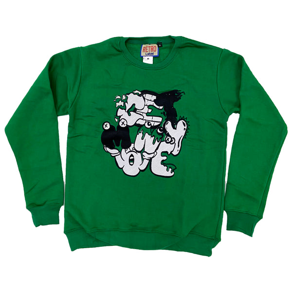 Retro Label Get Money Crewneck (Retro 13 Lucky Green)
