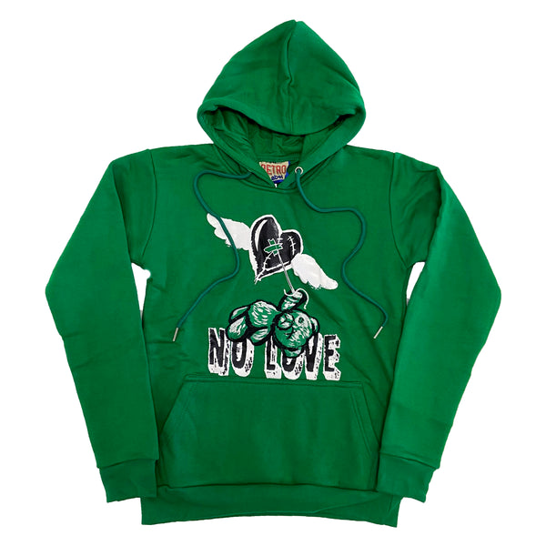 Retro Label No Love Hoodie (Retro 13 Lucky Green)