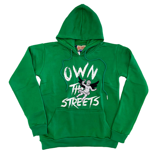 Retro Label Own the Streets Hoodie (Retro 13 Lucky Green)