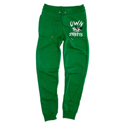 Retro Label Own the Streets Joggers (Retro 13 Lucky Green)