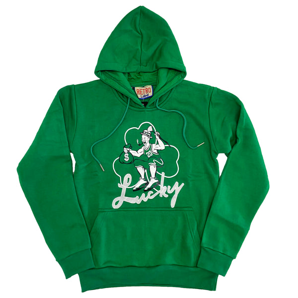 Retro Label Lucky Hoodie (Retro 13 Lucky Green)